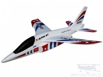 Wurfgleiter Alpha Jet (rot-blau) / 470mm