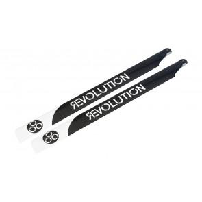710mm FBL 3D Carbon Rotorblätter (Revolution) RVOB071050 Revolution