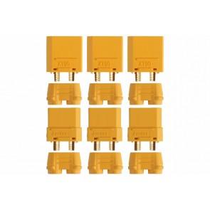 Drei Paar Goldkontaktstecker Set XT90