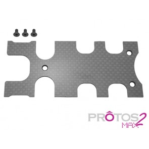 Protos Max V2 - Carbon cover Frame rear plate MSH71016# MSH