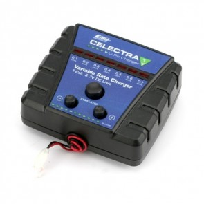 120 SR Celectra 1S 3.7 Variable Rate DC Li-Po Charger EFLC1006 Eflite