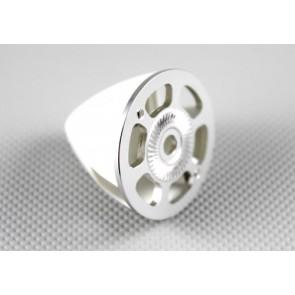 Nylon / Alu Spinner weiß (2-Blatt) 50 mm