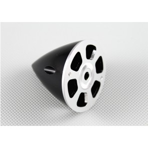 Nylon / Alu Spinner schwarz (2-Blatt) 70 mm