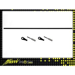 Protos 450 - Anlenkgestänge Heckrotor für Stretch-Kit MSH41108# MSH
