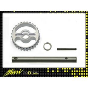 Protos 450 - Heckriemenrad / Heckrotorwelle Metall - Set MSH41104# MSH