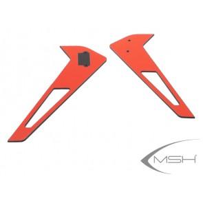Protos 380 - Vertical fin sticker - Red