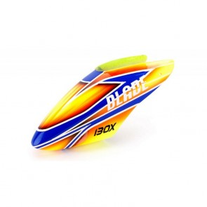 Blade 130X: GFK Haube Orange / Blau Blade