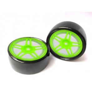 Drift Räder 1:10 Grün 63mm x 26mm 2x Monstertronic