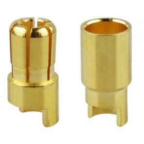 Ein Paar Goldkontaktstecker 6mm Yuki