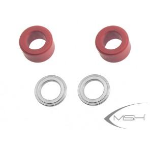 Protos Max V2 - Head dampeners 3D (red) V2