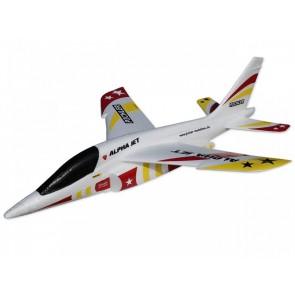 Wurfgleiter Alpha Jet (rot-gelb) / 470mm