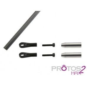 Protos Max V2 - Tail control rod set (800) MSH71088# MSH