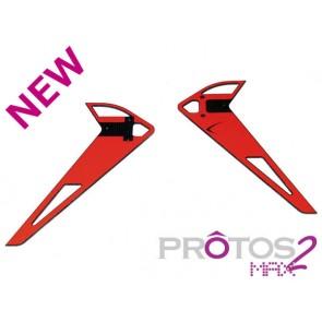 Protos Max V2 - Vertical fin sticker - Neon Orange MSH71182# MSH
