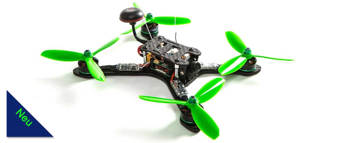 """Der Blade® Theory™ XL 5"""" BNF™ Basic Race Quad ist die gestreckte Variante einer X- FPV Drone."""