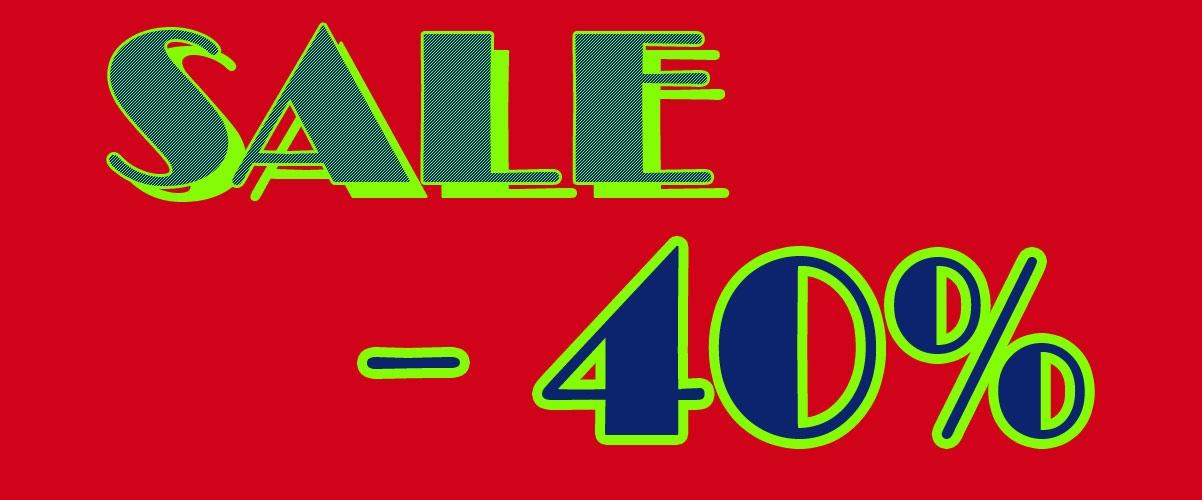 Sale Abverkauf - 40%