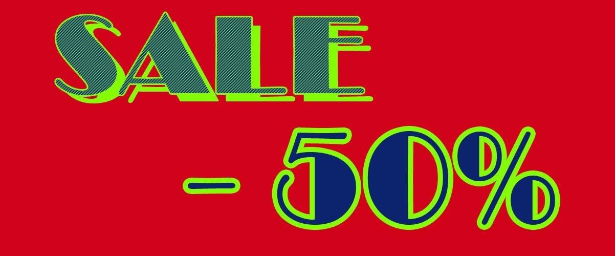Sale Abverkauf - 50%