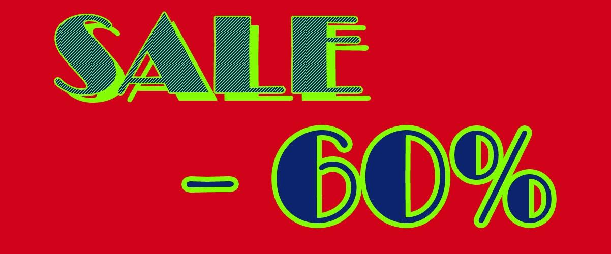 Sale Abverkauf - 60%