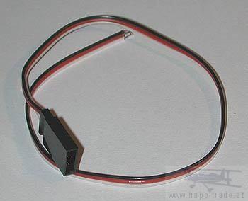 Buchsenkabel MPX 0,14mm/0,28m flach Standard Jamara