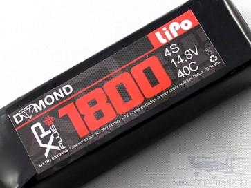 DYMOND XP-plus 1800 4S (14,8V) 40C Akku (mit LED Anzeige)