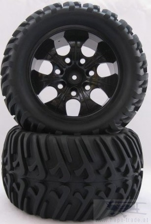 Offroad Räder 1:10 Monstertruck 115mm x 70mm (2x) Monstertronic