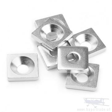 Metallplatte mit Bohrung und Senkung