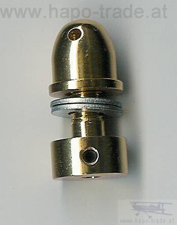 Luftschraubenkupplung mit Spinner 3mm / 6mm hapo trade