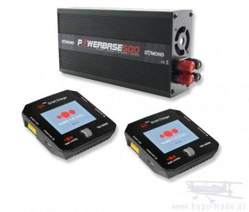 Powerbase 500W 33A Netzteil + Yuki SMART CHARGER Q6 Plus + Kabel gratis