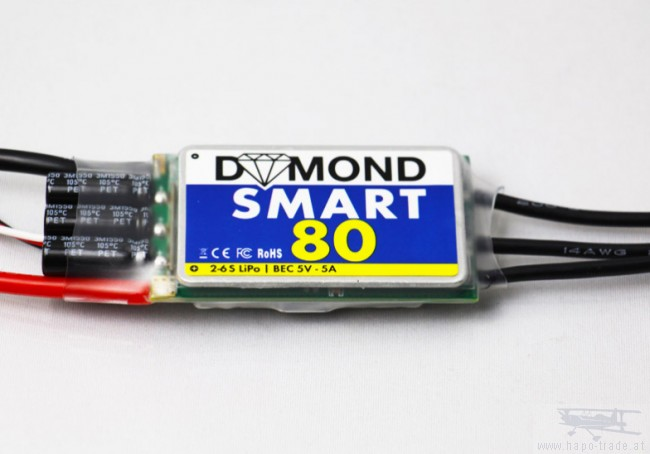 Fremragende BR-Regler DYMOND Smart 80 - Brushless Flug Regler - Brushless Flug SL34