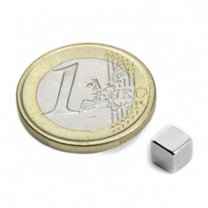 Neodym Magnet in Würfelform 5 mm