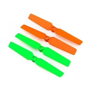 Blade 200QX: 3D-Propeller (4er Set) orange / grün BLH7715 Blade