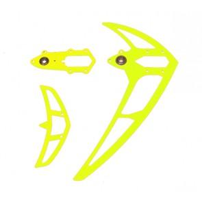 Leitwerkssatz, neon gelb , LOGO 500/550/600 Mikado