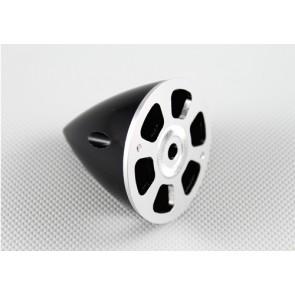 Nylon / Alu Spinner schwarz (2-Blatt) 75 mm
