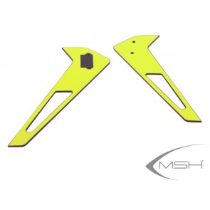 Protos 380 - Vertical fin sticker - Yellow