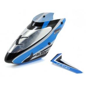 Blade Nano CP X Kabinenhaube u.  Finne Blau BLH3318A Blade