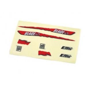 Blade mCX Dekorbogen rot - EFLH2229  Eflite