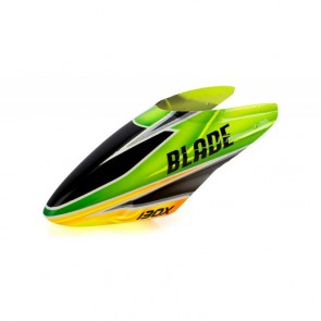 Blade 130X: GFK Haube Grün /Orange Blade