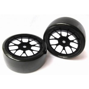 Drift Räder 1:10 Schwarz 63mm x 26mm 2x Monstertronic