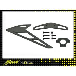 Protos 450 - Fin set assembly CF MSH41049# MSH