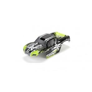 ECX Karosserie schwarz /grün 1:10 AMP MT