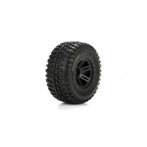 ECX Reifen vorne/hinten, schwarz, vormontiert: 1:10 AMP DB