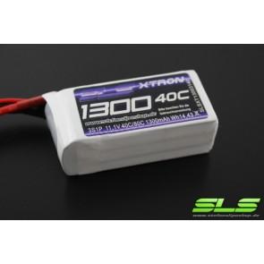 Lipo Akku SLS XTRON 1300mAh 3S1P 11,1V 40C/80C (SLSXT13003140)