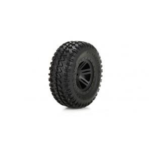 ECX Reifen vorne, vormontiert, schwarz (2): 1:10 AMP DB
