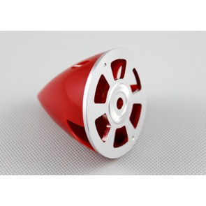 Nylon / Alu Spinner rot (2-Blatt) 63 mm