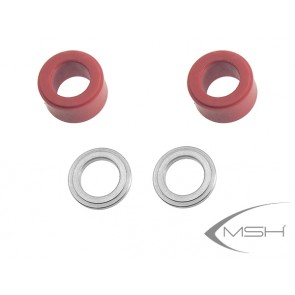 Protos Max V2 - Head dampeners 3D (red) V2
