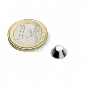 Neodym Magnet in Konusform 10/5 mm, Höhe 4 mm