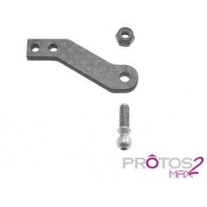 Protos Max V2 - Tail pitch carbon lever MSH71043# MSH