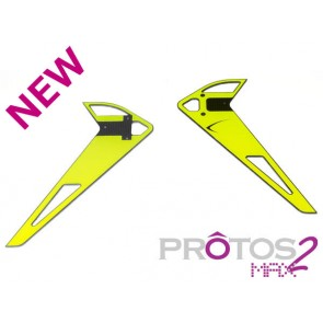 Protos Max V2 - Vertical fin sticker - Neon Yellow MSH71183# MSH