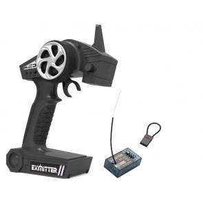 Pistolen-Fernsteuerung Exmitter EX2 2.4G - Modellbau Fernsteuerung mit Empfänger