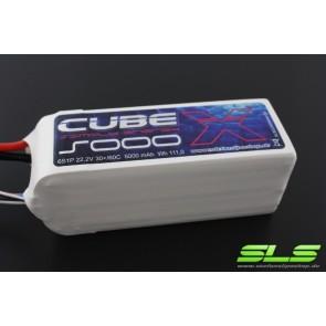 Lipo Akku SLS X-CUBE 5000mAh 6S1P 22,2V 30C/60C (SLSCUX50006130)