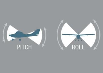 Fortgeschrittenenmodus Mehr Freiheit in Pitch und Roll, aber immer noch keine Übersteuerung.  Dieser Modus ermöglicht es Ihnen, engere Kurven zu fliegen und schneller zu steigen und abzusinken. Wenn das Flugzeug unter ungefähr 10 Meter über dem Boden absinkt und die Knüppel losgelassen werden, wird der Anfängermodus automatisch aktiviert und bringt das Flugzeug in den Horizontalflug zurück.